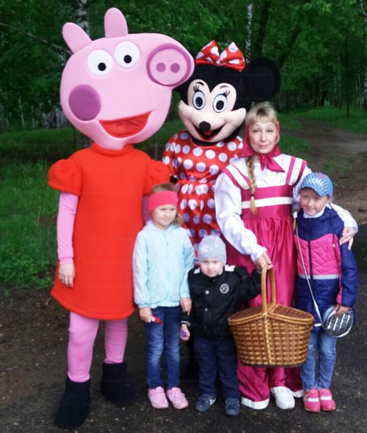 Отзыв об аренде Свинки Пеппы, костюме Машеньки и Минни Маус от arenda-kostyumov.ru