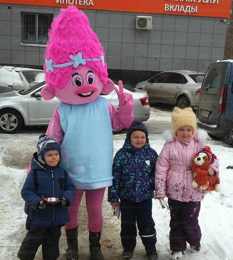 Отзыв об аренде ростовой куклы Розочки от arenda-kostyumov.ru