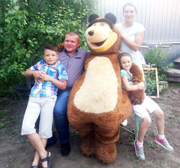 Отзыв об аренде ростовой куклы медведя от arenda-kostyumov.ru