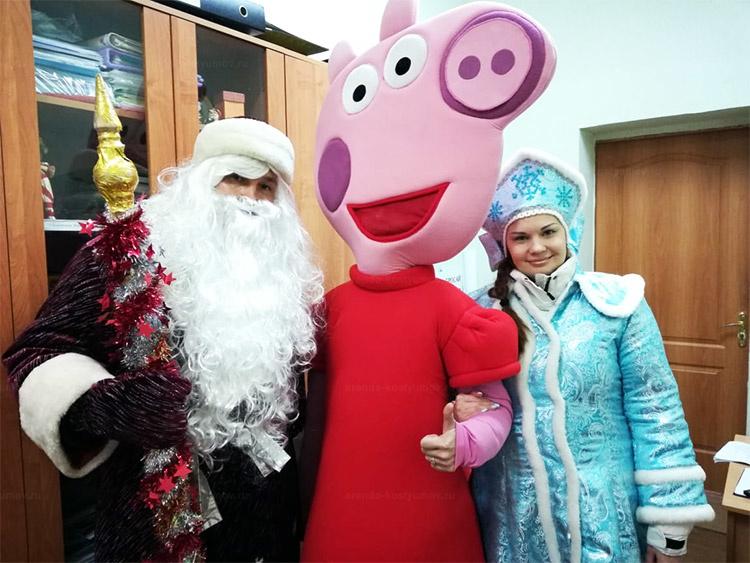 Отзыв об аренде ростовой куклы свинка пеппа от arenda-kostyumov.ru
