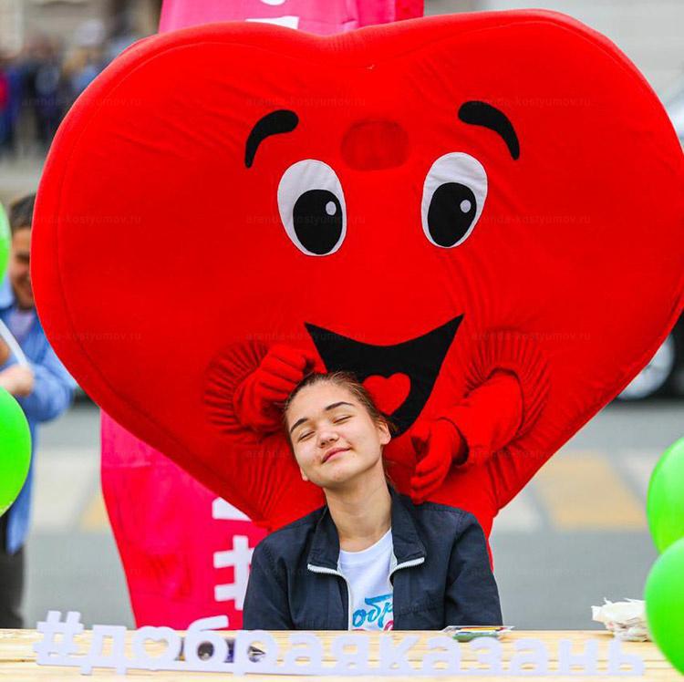 Кукла сердце от arenda-kostyumov.ru