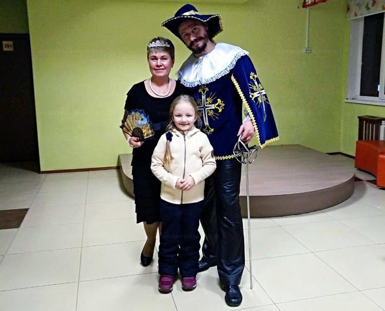 Отзыв об аренде костюма мушкетера от arenda-kostyumov.ru